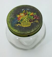 Vintage Anchor Hocking Spice Jelly Jar with Tole Paint Lid- Nice!