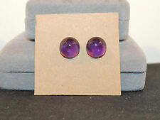 Amethyst Cabochon pair of 12mm round from Brazil with 5mm Dome(1177)