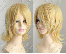 Kagamine Sister Kagamine Rin New Short Blonde Cosplay Anti- Alice Cos Wig  &685