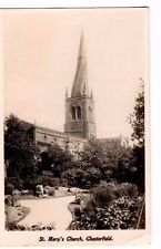 Derbyshire - Chesterfield, St. Mary's Church - 1900's Real Photo Postcard