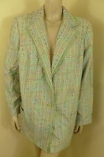 NEW Maggie Barnes Green Long Sleeve Pocket Jacket Top Woman Plus Size 20W NWT