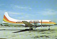 Air Sunshine Convair CV-440 N-478KW at Miami International 1979 Postcard