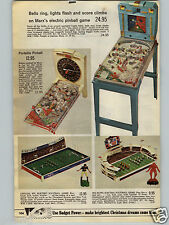 1968 PAPER AD Pinball Marx Portable Football Electric NFL Browns Giants Official