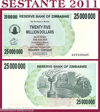 ZIMBABWE - 25000000 25.000.000 25 MILLION DOLLARS 2008 Prefix AA - P 56  FDS/UNC