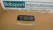 Triumph TR6 ** CHROME GRILLE BADGE HOLDER + TR6 FOIL BADGE ** NEW