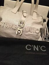 Costume National CNC White Shoulder Bag With Tassel Plus Dustbag