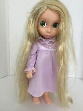 Disney Tangled Rapunzel Tinsel Hair Animators Collection 1st Ed Doll w Nightgown
