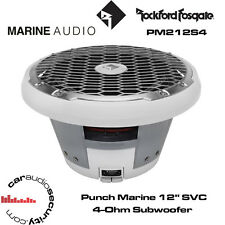 "Rockford Fosgate PM212S4 - Punch Marine 12"" SVC 4-Ohm Subwoofer - White"