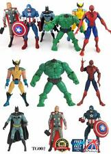 6 PCS SET The Avengers Hulk+Captain+Wolverine+Spiderman+Thor Figure TOYS TG002