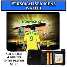 Mens Unoffical Personalised NORWICH CITY Football Wallet Gift
