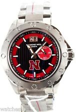 Raymond Weil Sport Letter N logo Men's Black and Red Dial Watch 8300-ST-20041