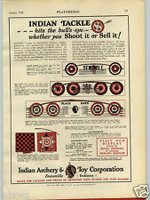 1928 PAPER AD Indian Archery & Toy Corp Black Hawk Play Bow Arrow Red Wing
