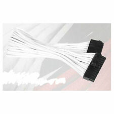 Silverstone SST-PP07-MBW 24Pin Power Extension Cable, White Sleeved
