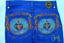 Coogi Australian denim blue jeans mens 40x34 embroidered royale baggy loose a21