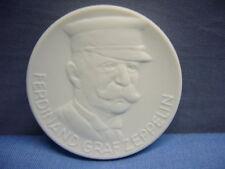 Medaille Sachsen Meissener Porzellan  FERDINAND GRAF ZEPPELIN 150 JAHRE ORDEN