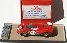 1 / 43 FERRARI 330 P 4 BBR BC 7 FACTORY BUILT          OUTER GREY BOX IS MISSING