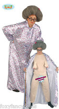 Rude Old Lady Granny Flasher Unisex Fancy Dress Funny Stag Comedy Costume