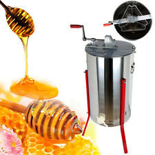 Pro Three 3 Frame Stainless Steel Bee Honey Extractor Honeycomb Manual 14.76""