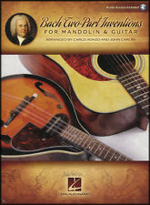 Bach Two-Part Inventions for Mandolin & Guitar TAB Music Book Score & Parts/DLC