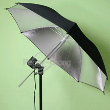 33'' 83cm Black/Silver Reflective Photo Video Studio Umbrella For Flash Lighting