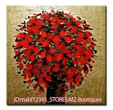 """YH754 20*20""""Hand painted Oil Canvas Wall Art home Decor Abstract flower NO Frame"""