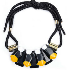 MARNI H&M Yellow Big Gemstone  Necklace