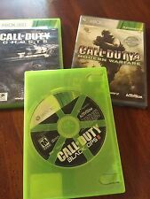 XBox 360 Call Of Duty Lot Of 3 Games, Modern Warfare, Ghosts, Blacks Ops 2