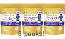Lot3! Asahi perfect collagen powder Premier Rich, 228g pack x 3 (=total 90day)
