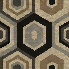 Groundworks Geometric Upholstery Fabric- Hexagon Tile/Grey 0.75 yd GWF-2901.118