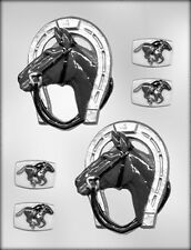 Racing Horse & Horseshoe Chocolate Candy Mold Race