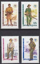 Papua-Neuguinea 1992 ** Mi.659/62 Militär Military Soldaten Soldiers [st1542]