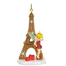 2010 DISNEY TINKER BELL CHRISTMAS ORNAMENT Eiffel Tower Paris *SOLD OUT* New Box