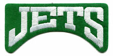 "1980'S NEW YORK JETS NFL FOOTBALL 4.25"" BLOCK TEXT TEAM LOGO PATCH"