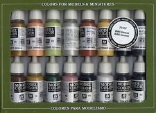 16 X 17ml BOTTLE PAINT SET BY VALLEJO VAL70107 Model Color Set  WWII German