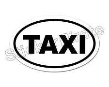 * Oval Car Magnet TAXI Magnetic Bumper Sticker