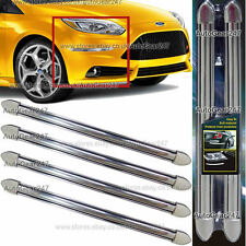 4x 39.5cm Car Van Body Moulding Bumper Edge Protector Guard Chrome Rubber Strips