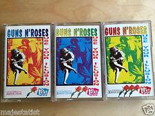 GUNS N' ROSES - Use Your Illusion I & II & II 3xMC RARE 1'ST POLISH PRESS 1991