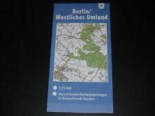 Fahrradkarte Tourenkarte Radwanderungen Deutschland Nord: Berlin Westl. Umland