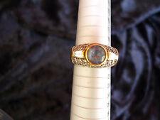 schöner, alter Ring__925 Silber vergoldet___mit 33 Steinen !