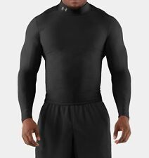 New Under Armour UA ColdGear Long Sleeve Compression Mock Shirt Black LG 1282956