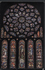 Religion Postcard - Stained Glass Window,Cathedrale De Chartres - Rose Nord LE30