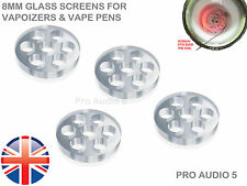 6x Glass Screens 8mm - Atmos Raw RX Ago G5 Snoop dogg Dry Herb Atomizer UK Post