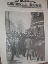 Ex President Kruger South Africa Hotel Scribe Paris France 1900 old print