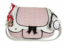 NWT Betsey Johnson Blush Cargo Messenger Diaper Bag + Change Pad + Wristlet $158