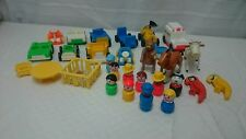 Vintage Fisher Price Little People Lot of 10 Figures 11 Vehicles 8 Other Pieces
