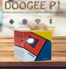 "►real ""DOOGEE P1 Cube+"" LED Projector, TV movie/game for phone, tablet, PC(2017)"