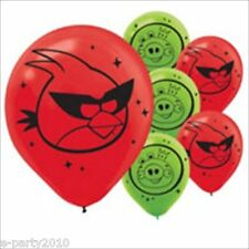 ANGRY BIRDS SPACE LATEX BALLOONS (6) ~ Birthday Party Supplies Decoration Helium