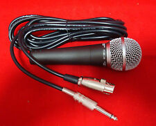 "Dynamic Pro Studio Karaoke Handheld Wired Vocal Microphone w/ XLR to 1/4"" Cable"