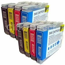 8 BROTHER DCP-350C compatible printer ink cartridges