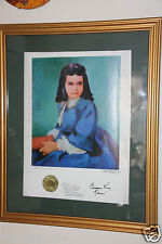 GONE WITH THE WIND BONNIE BLUE PRINT SIGNED BY ARTIST, FRED CRANE, CAMMIE KING